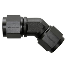 45° Coupler, -10AN Female-Female, BLACK