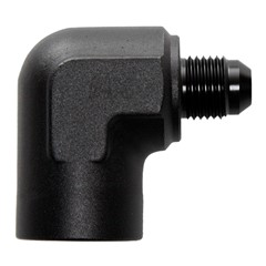 "90° Adapter, -6AN Male » 1/2"" FPT, BLK"