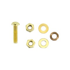 "Bulkhead Stud Kit, Ground, 1/4"", Brass"