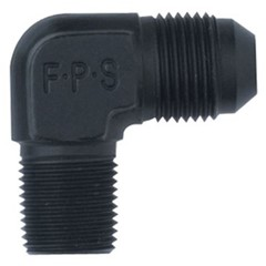"90° Adapter, -8AN » 1/4"" NPT Male, Black"