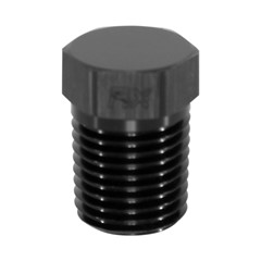 "Hex Cap Pipe Plug 1/4"" MPT, Black"