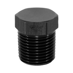 "Hex Cap Pipe Plug 3/8"" MPT, Black"