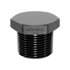 "Hex Cap Pipe Plug 3/4"" MPT, Black"