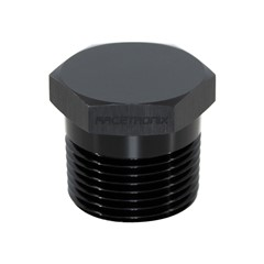 "Hex Cap Pipe Plug 1"" MPT, Black"