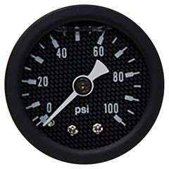"Gauge, 100PSI, 1.5"" Liquid, CF/BLK"