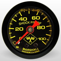 "Gauge, 100PSI, 1.5"" Liquid, YLW/BLK"