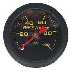 "Gauge, 100PSI, 1.5"" Liquid, YLW/BLK-RX"