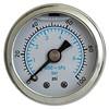 """Gauge, 100PSI, 1.5"""" Liquid, WHT/SS"""